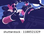 driver stop by police patrol... | Shutterstock .eps vector #1188521329