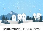 scenery in winter. snow and... | Shutterstock .eps vector #1188523996