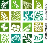 abstract nature icons   Shutterstock .eps vector #1188525379