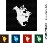 map of north america | Shutterstock .eps vector #1188528523
