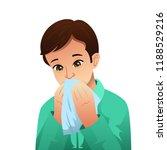 a vector illustration of sick... | Shutterstock .eps vector #1188529216