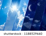 opposites in nature  day and... | Shutterstock . vector #1188529660