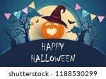happy halooween day. funny... | Shutterstock .eps vector #1188530299