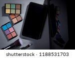 cosmetic products and brushes... | Shutterstock . vector #1188531703