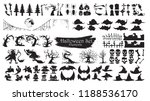 spooky halloween silhouette... | Shutterstock .eps vector #1188536170