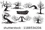 spooky trees silhouette... | Shutterstock .eps vector #1188536206