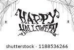 spooky happy halloween text... | Shutterstock .eps vector #1188536266