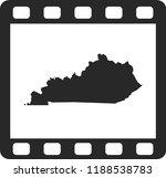vector map of kentucky | Shutterstock .eps vector #1188538783
