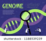 human genome illustration with... | Shutterstock .eps vector #1188539239