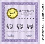 violet diploma or certificate... | Shutterstock .eps vector #1188540256