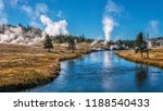 view of the firehole river... | Shutterstock . vector #1188540433