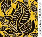 vector seamless floral pattern... | Shutterstock .eps vector #1188547540