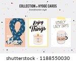 super cute vector set of hygge...   Shutterstock .eps vector #1188550030