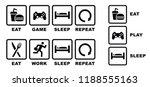 eat play sleep repeat   eat... | Shutterstock .eps vector #1188555163