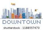 city downtown urban landscape... | Shutterstock .eps vector #1188557473