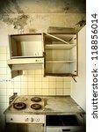 Old Kitchen Destroyed  Interio...