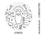 linear banners for stress.... | Shutterstock .eps vector #1188565783
