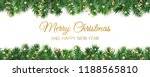 banner with merry christmas... | Shutterstock .eps vector #1188565810