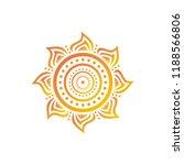 beautiful sun. vector... | Shutterstock .eps vector #1188566806