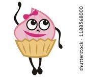 cute cartoon cake. vector... | Shutterstock .eps vector #1188568000