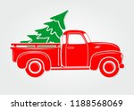 vintage pickup  truck with... | Shutterstock .eps vector #1188568069