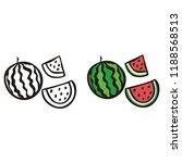 watermellon. vector illustration | Shutterstock .eps vector #1188568513