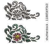 floral pattern decorative... | Shutterstock .eps vector #1188569563