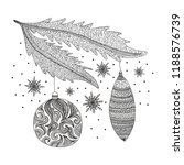 merry christmas card. vector... | Shutterstock .eps vector #1188576739