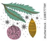 happy new year card. vector... | Shutterstock .eps vector #1188577789