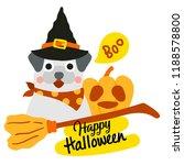 cute cartoon happy halloween... | Shutterstock .eps vector #1188578800
