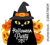 cute cartoon happy halloween... | Shutterstock .eps vector #1188578839