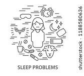 linear banners for sleep... | Shutterstock .eps vector #1188580636