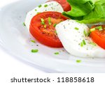 tomato  cheese  salad | Shutterstock . vector #118858618