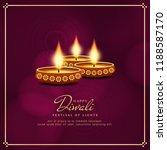 abstract religious happy diwali ...   Shutterstock .eps vector #1188587170