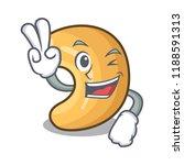 two finger cashew nut salty... | Shutterstock .eps vector #1188591313
