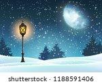 winter christmas motive ... | Shutterstock .eps vector #1188591406