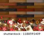 christmas background with... | Shutterstock .eps vector #1188591409