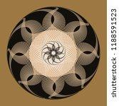 guilloche rosette with...   Shutterstock .eps vector #1188591523