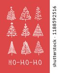 hand drawn set of christmas... | Shutterstock .eps vector #1188592516