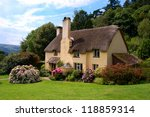 Thatched Roof Cottage In...