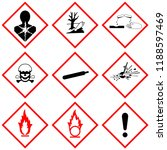 ghs label safety sign ... | Shutterstock . vector #1188597469