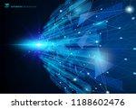 abstract molecules blue virtual ... | Shutterstock .eps vector #1188602476