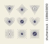 set of vintage sunbursts in... | Shutterstock .eps vector #1188603850