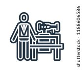 tailor icon vector isolated on... | Shutterstock .eps vector #1188606586