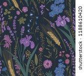 summertime. seamless pattern.... | Shutterstock .eps vector #1188610420
