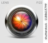 set camera lens object glass...   Shutterstock .eps vector #1188615799