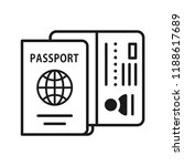 passport book flat icon  check... | Shutterstock .eps vector #1188617689