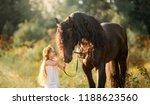 little  girl with black... | Shutterstock . vector #1188623560