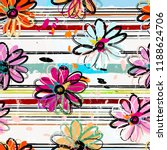 floral seamless pattern... | Shutterstock .eps vector #1188624706