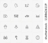 toys line icon set with puzzle  ... | Shutterstock .eps vector #1188626119